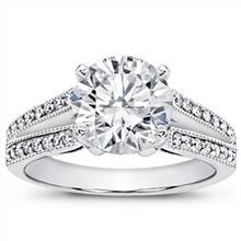 1/3 ct. tw. Pave Setting for Round Diamond | Adiamor