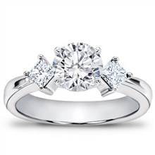1/3 ct. tw. Princess-Cut Diamond Accented Setting   Adiamor