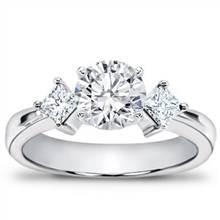 1/3 ct. tw. Princess-Cut Diamond Accented Setting | Adiamor