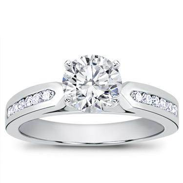 1/4 ct. tw. Channel-Set Engagement Setting