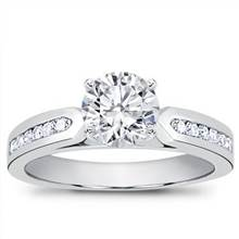1/4 ct. tw. Channel-Set Engagement Setting | Adiamor