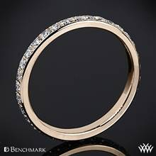 14k Rose Gold Benchmark Full Eternity Diamond Wedding Ring | Whiteflash