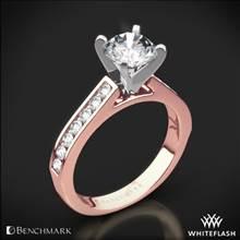 14k Rose Gold Benchmark HCC2 Channel-Set Diamond Engagement Ring | Whiteflash