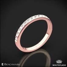 14k Rose Gold Benchmark Large Pave Diamond Wedding Ring | Whiteflash