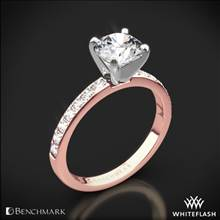 14k Rose Gold Benchmark LCP2 Large Pave Diamond Engagement Ring | Whiteflash