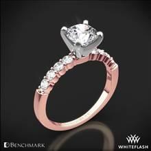 14k Rose Gold Benchmark SP4 Shared-Prong Diamond Engagement Ring | Whiteflash