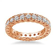 14K Rose Gold Four Prong Diamond Eternity Ring (1.40 - 1.68 cttw.) | B2C Jewels