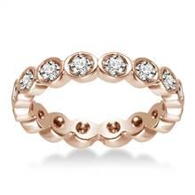 14K Rose Gold Pave Set Diamond Eternity Ring (0.32 - 0.38 cttw.) | B2C Jewels