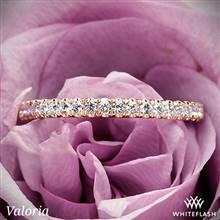 14k Rose Gold Valoria Cathedral French-Set Diamond Wedding Ring | Whiteflash