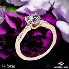 14k Rose Gold Valoria Flora Twist Diamond Engagement Ring | Whiteflash