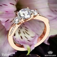 14k Rose Gold Valoria Flora Twist Three Stone Diamond Engagement Ring   Whiteflash