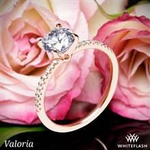 14k Rose Gold Valoria Micropave Diamond Engagement Ring | Whiteflash
