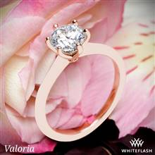 14k Rose Gold Valoria Petite Six Prong Solitaire Engagement Ring | Whiteflash