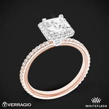14k Rose Gold with White Gold Head Verragio Tradition TR120HP Diamond Princess Halo Engagement Ring | Whiteflash