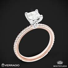 14k Rose Gold with White Gold Head Verragio Tradition TR120P4 Diamond 4 Prong Engagement Ring | Whiteflash