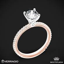 14k Rose Gold with White Gold Head Verragio Tradition TR120R4 Diamond 4 Prong Engagement Ring | Whiteflash