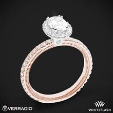 14k Rose Gold with White Gold Head Verragio Tradition TR150HOV Diamond Oval Halo Engagement Ring | Whiteflash
