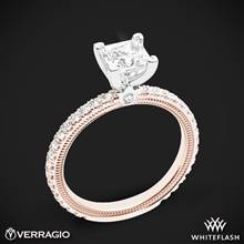 14k Rose Gold with White Gold Head Verragio Tradition TR150P4 Diamond 4 Prong Engagement Ring | Whiteflash