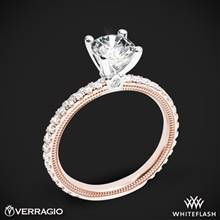14k Rose Gold with White Gold Head Verragio Tradition TR150R4 Diamond 4 Prong Engagement Ring | Whiteflash