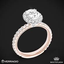 14k Rose Gold with White Gold Head Verragio Tradition TR180HOV Diamond Oval Halo Engagement Ring | Whiteflash