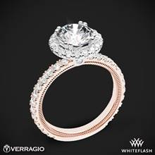14k Rose Gold with White Gold Head Verragio Tradition TR180HR Diamond Round Halo Engagement Ring | Whiteflash
