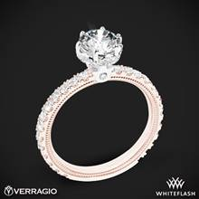 14k Rose Gold with White Gold Head Verragio Tradition TR180TR Diamond 6 Prong Tiara Engagement Ring | Whiteflash
