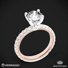 14k Rose Gold with White Gold Head Verragio Tradition TR210R4 Diamond 4 Prong Engagement Ring | Whiteflash