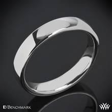 14k White Gold 4.5mm Benchmark European Comfort Fit Wedding Ring | Whiteflash