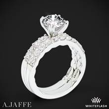 14k White Gold A. Jaffe ME1401Q Classics Diamond Wedding Set | Whiteflash