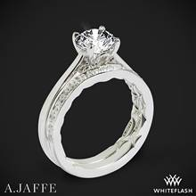 14k White Gold A. Jaffe ME1569Q Seasons of Love Solitaire Wedding Set | Whiteflash