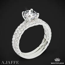 14k White Gold A. Jaffe ME1850Q Classics Diamond Wedding Set | Whiteflash