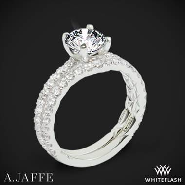 14k White Gold A. Jaffe ME1850Q Classics Diamond Wedding Set