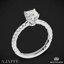 14k White Gold A. Jaffe ME1851Q Art Deco Diamond Engagement Ring | Whiteflash