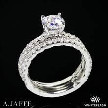 14k White Gold A. Jaffe ME1865Q Classics Diamond Wedding Set | Whiteflash