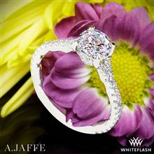14k White Gold A. Jaffe ME2003QB Seasons of Love Diamond Engagement Ring | Whiteflash