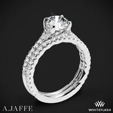 14k White Gold A. Jaffe ME2003QB Seasons of Love Diamond Wedding Set | Whiteflash