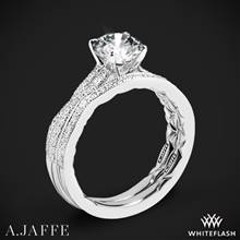 14k White Gold A. Jaffe ME2036Q Seasons of Love Diamond Wedding Set | Whiteflash