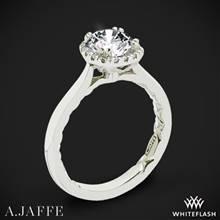 14k White Gold A. Jaffe ME2053Q Halo Diamond Engagement Ring | Whiteflash