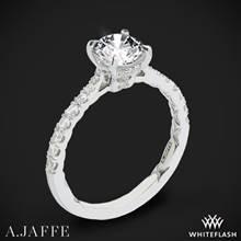 14k White Gold A. Jaffe ME2141Q Diamond Engagement Ring | Whiteflash