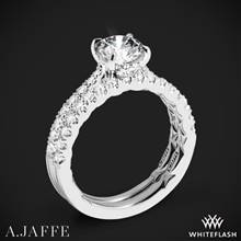 14k White Gold A. Jaffe ME2141Q Diamond Wedding Set | Whiteflash