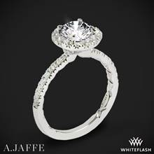 14k White Gold A. Jaffe ME2167Q Classics Halo Diamond Engagement Ring | Whiteflash