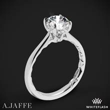 14k White Gold A. Jaffe ME2211Q Solitaire Engagement Ring | Whiteflash