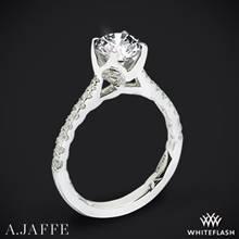 14k White Gold A. Jaffe ME2252Q  Diamond Engagement Ring | Whiteflash