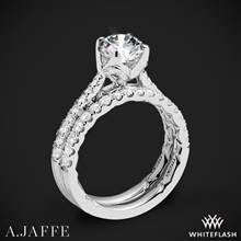 14k White Gold A. Jaffe ME2252Q Diamond Wedding Set | Whiteflash