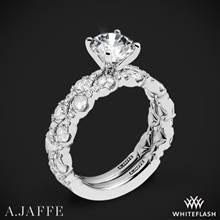 14k White Gold A. Jaffe ME2303Q Diamond Wedding Set | Whiteflash