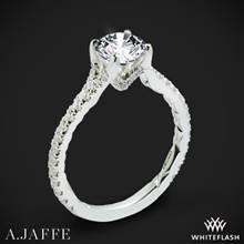 14k White Gold A. Jaffe ME3001QB Diamond Engagement Ring   Whiteflash