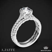 14k White Gold A. Jaffe ME3001QB Diamond Wedding Set | Whiteflash