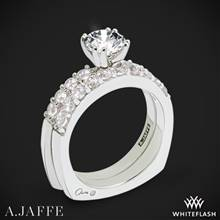 14k White Gold A. Jaffe MES078 Classics Diamond Wedding Set | Whiteflash