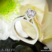 14k White Gold A. Jaffe MES166 Classics Solitaire Engagement Ring | Whiteflash