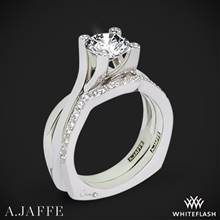 14k White Gold A. Jaffe MES463 Seasons of Love Solitaire Wedding Set | Whiteflash